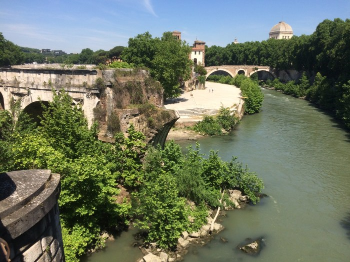 Rome, Italy, Walking along the Tiber River