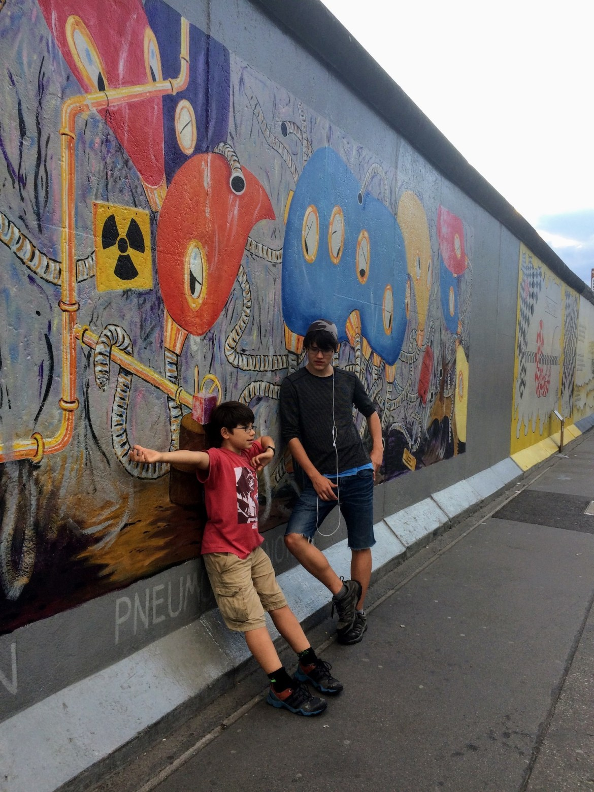 Snapshots of Berlin Wall