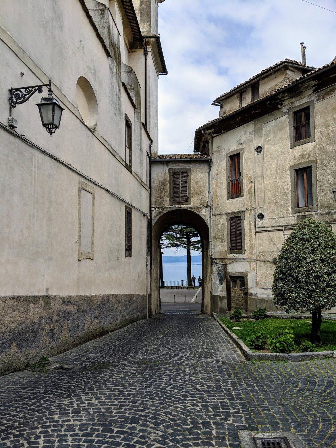 Montefiascone, a hilltop town in Italy overlooking Lago de Bolsena