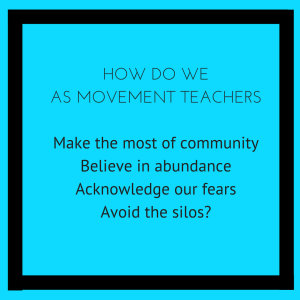 Make the most of your community, believe in abundance, acknolwedge your fears and avoid the silos!