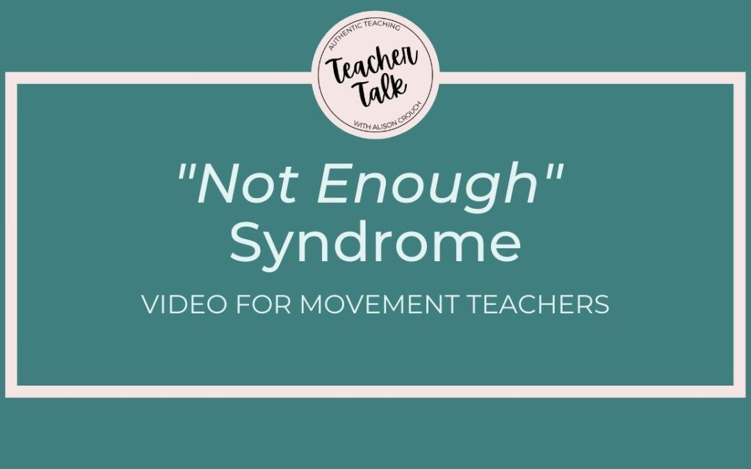 Do You Struggle with Not-Enough Syndrome?