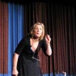 Alison Larkin on stage
