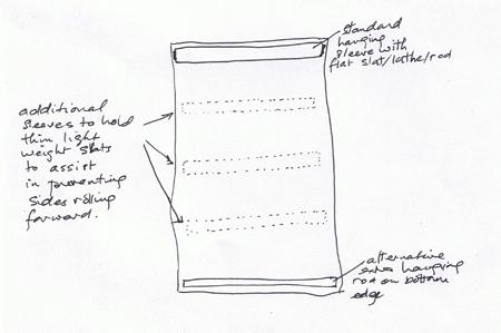 wavy quilts - extra horizontal slats