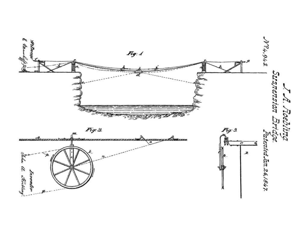 Suspension bridge patent
