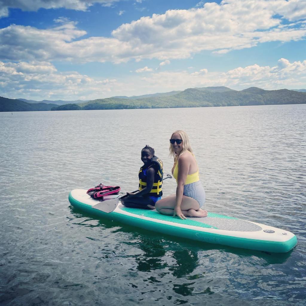 Ali and Phani on Lake Jocasse