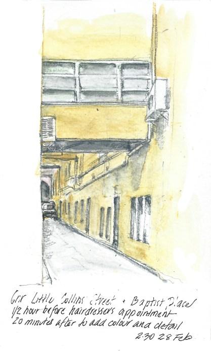 Cnr Little Collins Street and Baptist Place, Melbourne