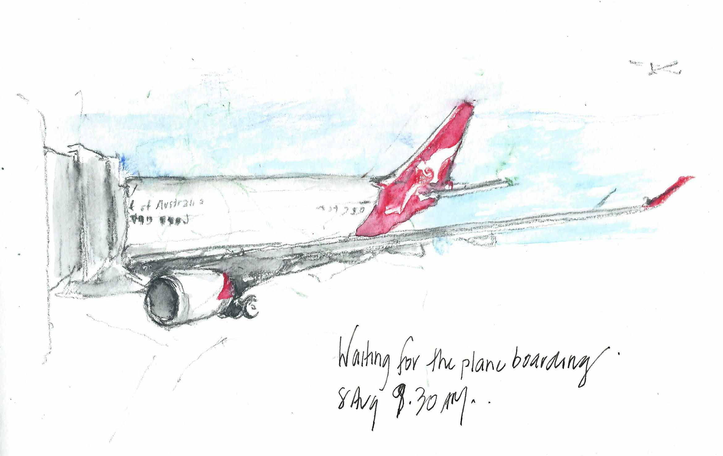 I Always Arrive Early At The Airport And Enjoy Time That Can Spend Sketching Planes Dont Get To Draw Plane Am Travelling In