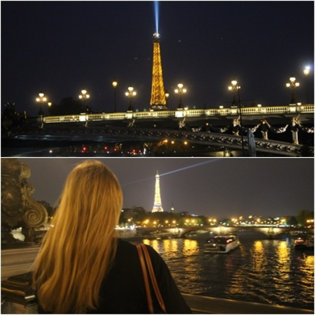 Pont d'Alexandre and the Eiffeltower by night