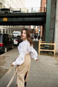 Alyssa of a-listed shares three outfit ideas to wear to work this winter