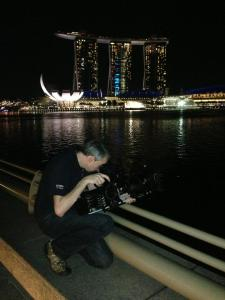 Alister shooting with the f55 in Singapore.