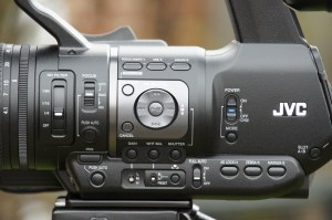 The left side of the JVC HM650.