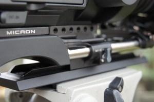 Micron bridge plate and riser on Sony FS700.