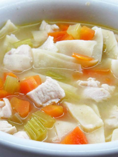 A Literary Feast -- chicken noodle soup
