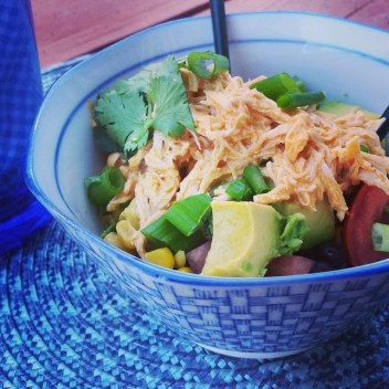 A Literary Feast -- Buffalo Chicken Bowls. Sign up for a free weekly meal plan and meal management tools!
