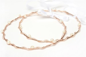 Thalassa Rose-Gold Wedding Crowns Stefana