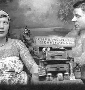 woman getting tattoed
