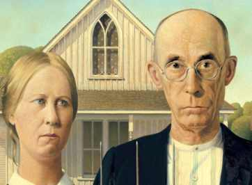 american gothic painting by Wood
