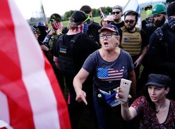woman at trump rally