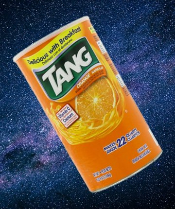 tang drink mix with galaxy background
