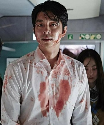 blood-spattered characters in Train to Busan