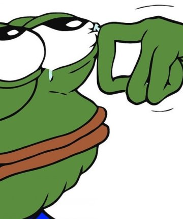 pepe the frog wiping away tears