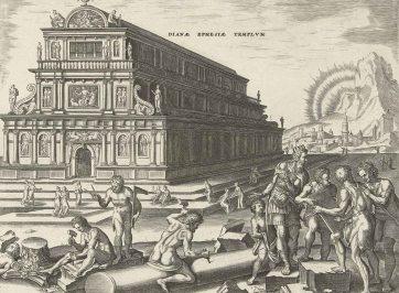 temple of artemis burned