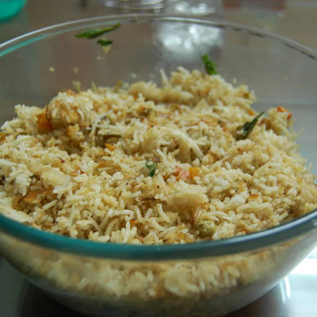 Indo Chinese Vegetable Fried Rice