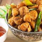 Soya chunks deep fried with the ginger-garlic, chilly and curry leaves. This soya chunks masala fry is a quick, tasty and healthy appetizer that can be done in no time.