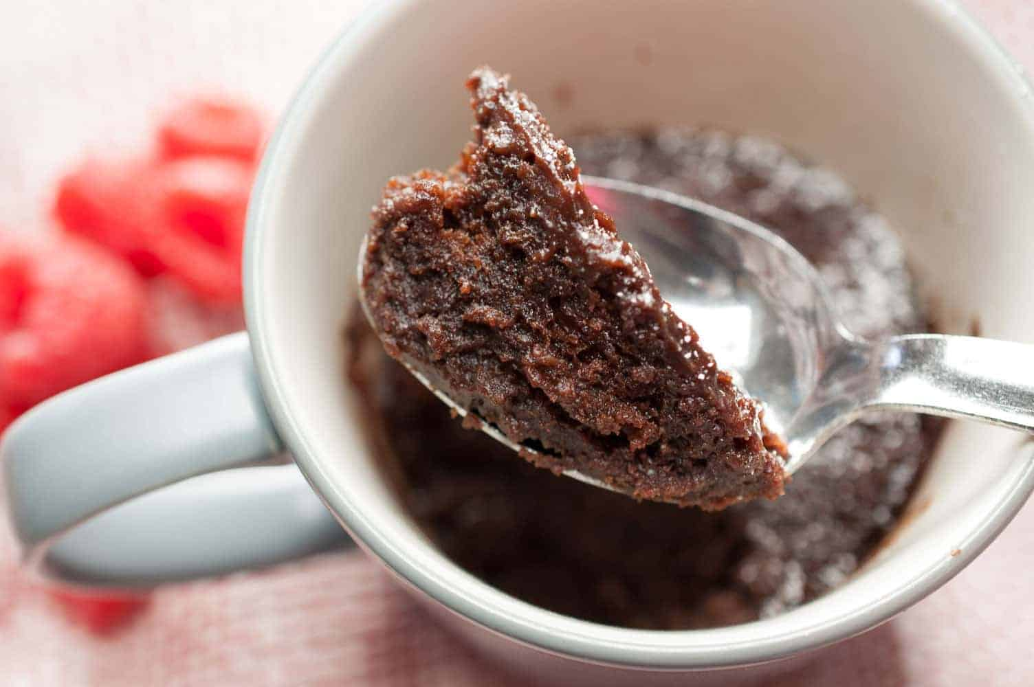 microwave eggless chocolate mug cake without butter