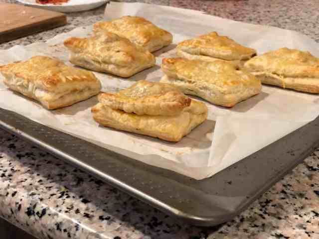 Baked Indian Style Paneer Puff Pastry