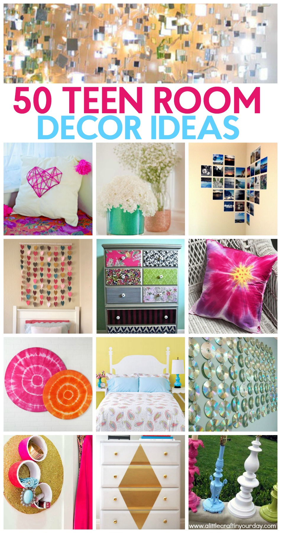 50 Teen Girl Room Decor Ideas - A Little Craft In Your ... on Teenage Room Decor Things  id=16437