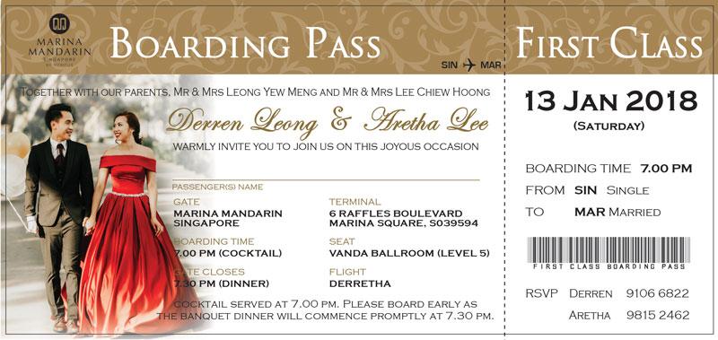 Arretha Derren Invite card