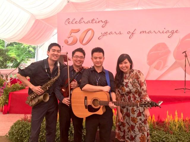 Golden Jubilee Wedding Band
