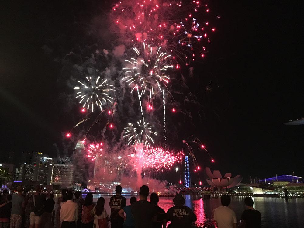 Fireworks NDP Clifford Pier Fullerton Bay Wedding