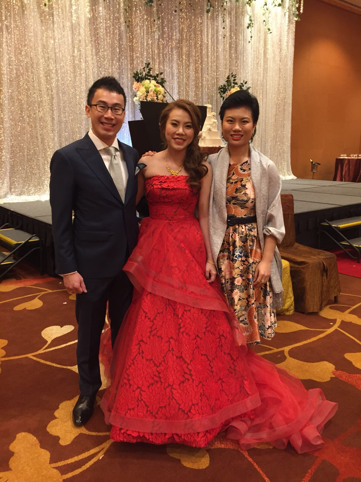marina bay sands heliconia ballroom wedding emcee