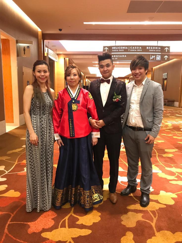 Marina Bay Sands MBS Hibiscus Room Wedding Emcee Live Band