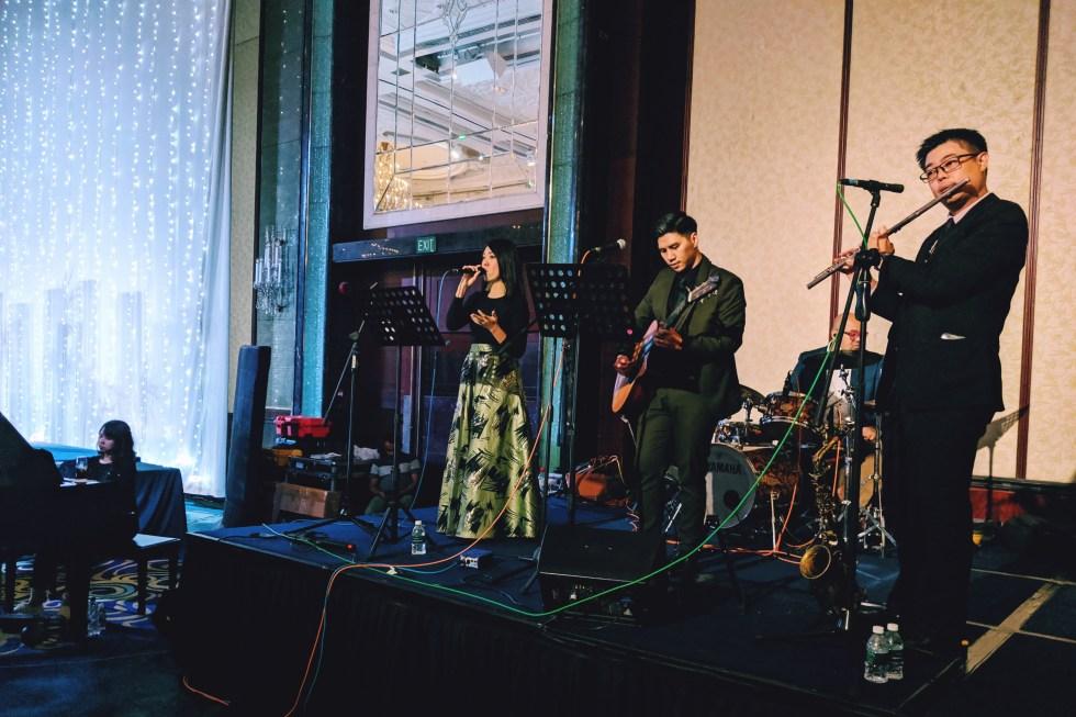 Shangri-la orchard island ballroom live band stage
