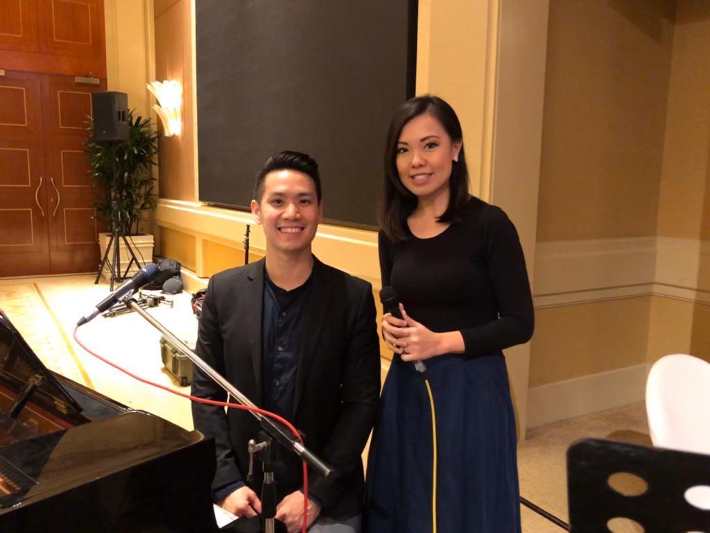 Conrad Singapore Grand Ballroom Wedding Emcee Live Band Music Reception