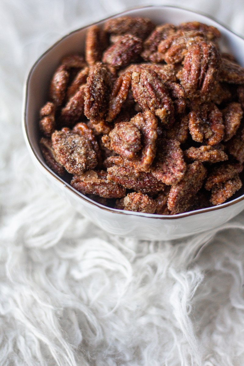Vanilla Cardamom Candied Pecans | A Little Food