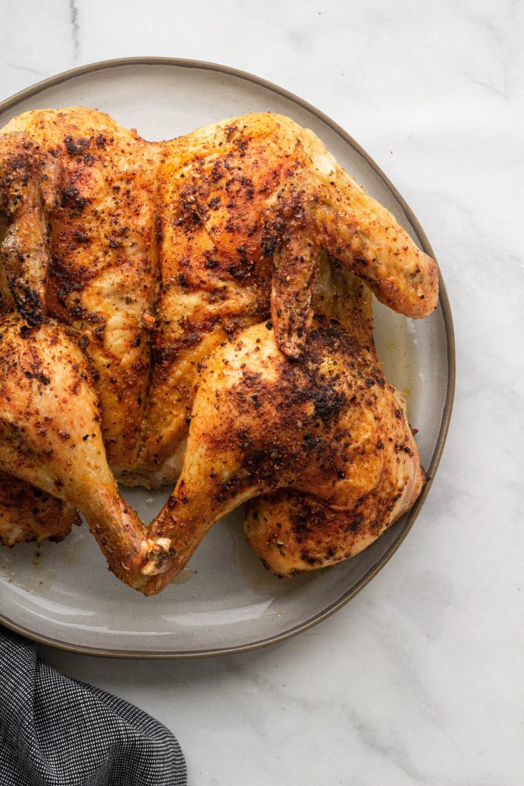 Spatchcocked (Butterflied) Roasted Chicken