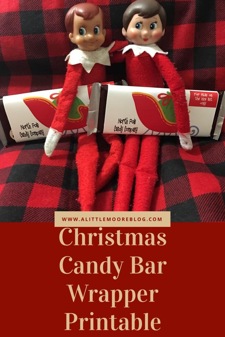 North Pole Candy Company Custom Chocolate Bar Wrapper Printable