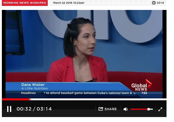 Winnipeg Dietitian, Dana Weber, Registered Dietitian at A Little Nutrition