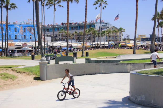 Bicycling in Venice Beach