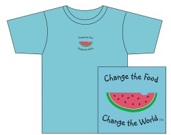 Men's Change the Food, Change the World Short Sleeve Tee – Light Blue