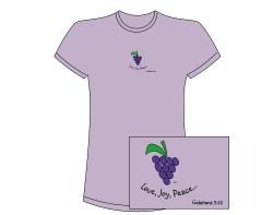 Women's Fruit of the Spirit Short Sleeve Tee – Purple