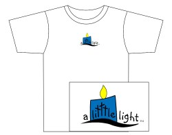 Men's A Litttle Light Short Sleeve Tee – Blue Logo