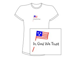 Women's In God We Trust Short Sleeve Tee – White