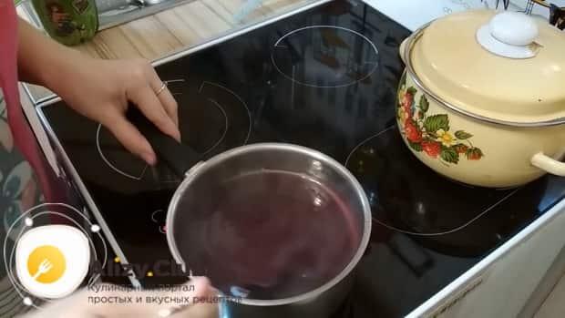 Вкусный кисель из варенья и крахмала готов