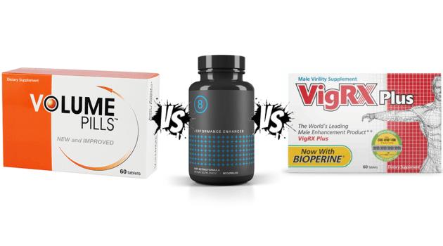Volume Pills Vs Performer 8 Vs VigRX Plus Review by Alizyme