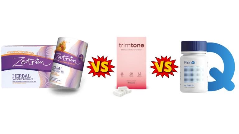 Zotrim Vs TrimTone vs  PhenQ: Which is the best appetite suppressant?